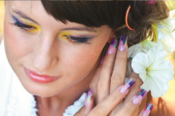 Фото мастер-класса с использованием цветных акрилов